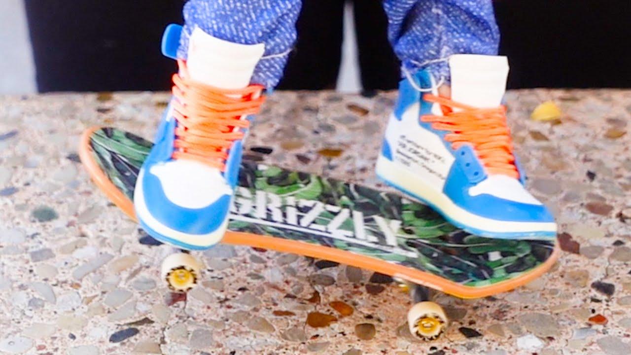 New Tech Deck Finger Skateboard | New Finger Nike Sneakers ...