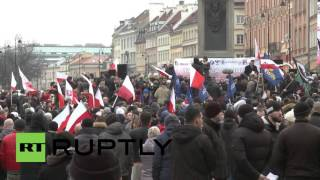 Poland: Thousands of nationalists hold anti-refugee rally in Warsaw