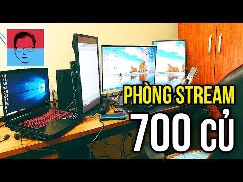 """THĂM PHÒNG STREAM GAME 700 """"CỦ"""" CỦA DŨNG CT – TRỰC TIẾP GAME !!!"""