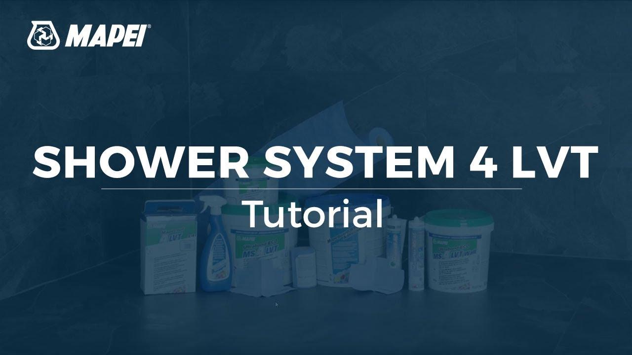 MAPEI: Shower System 4 LVT - YouTube