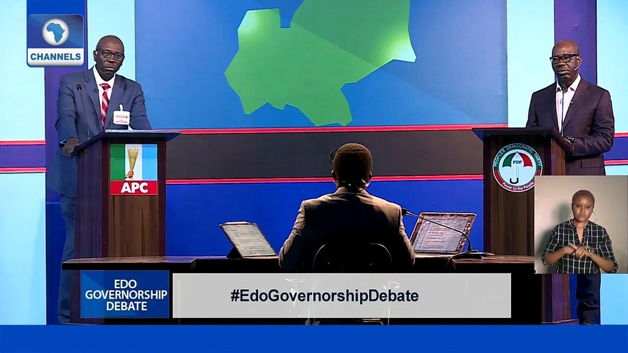 Download FULL VIDEO: Edo Governorship Debate 2020 (Obaseki VS Ize-Iyamu)