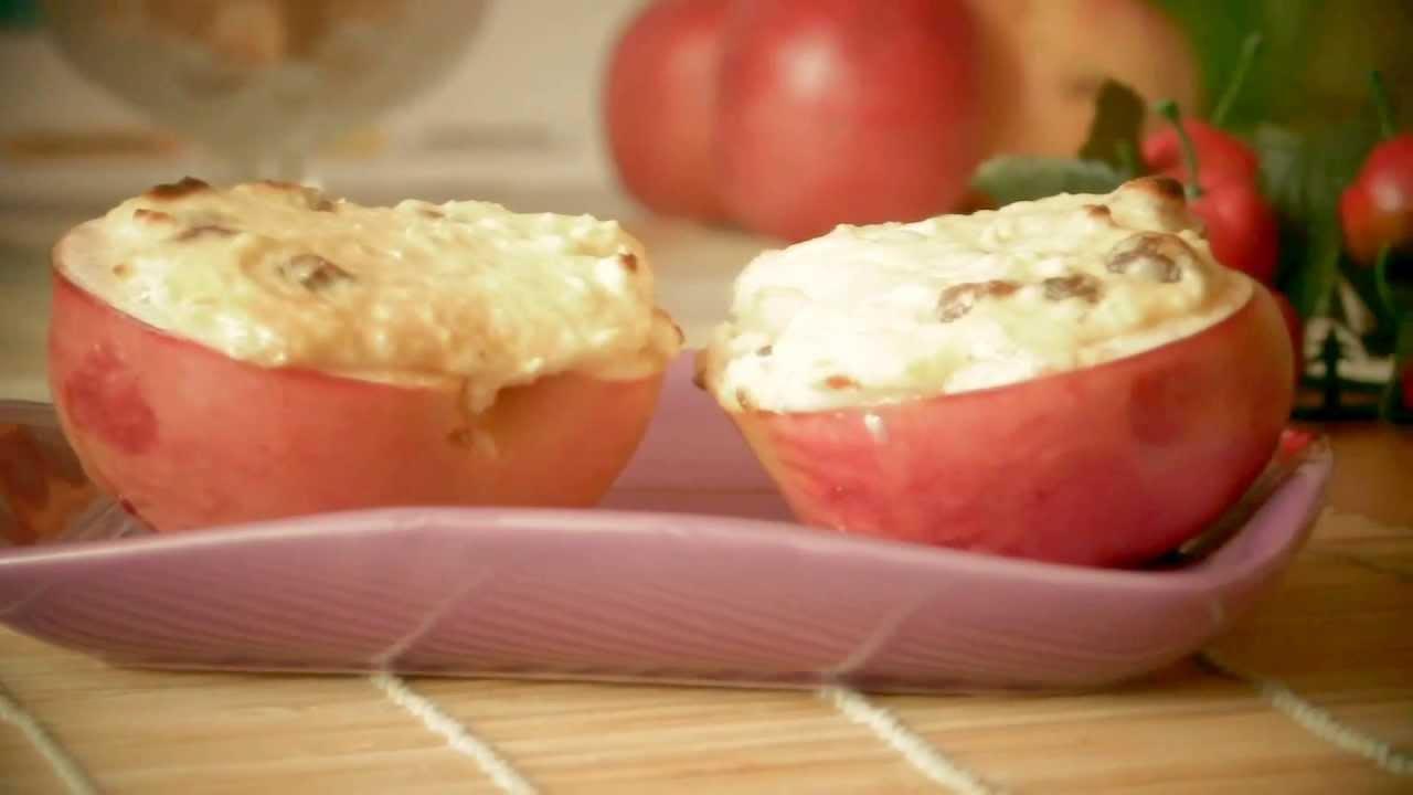 Печеные яблоки с творогом рецепт  с фото пошаговый  Едим