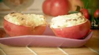 Яблоки с творогом печеные-VIKKAvideo