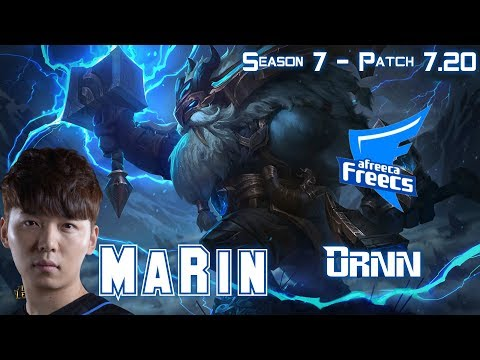 AFs MaRin ORNN vs SION Top - Patch 7.20 KR Ranked