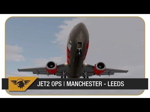 [X-Plane] Let's mirror... Jet2.com | Episode 1 | Manchester (EGCC) - Leeds (EGNM) | IXEG B737-300