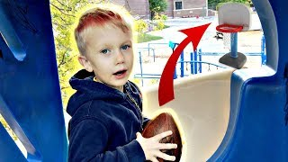 Little Brother Trick Shots!   That