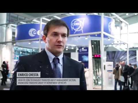 Technology Transfer from Particle Physics and Space Research  CERN ESA Stand at Hannover Messe 2014