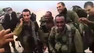 Ethiopian army soldier celebrating a victory with European troop