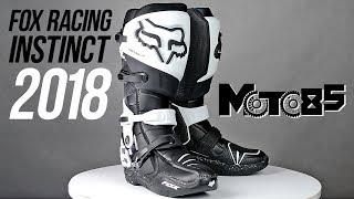 Мотоботы Fox Instinct 2018. Подробный обзор кроссовых мотобот.