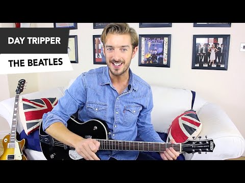 THE BEATLES - Day Tripper Guitar Lesson Tutorial - How to play