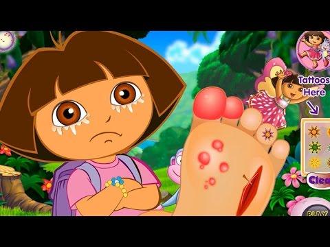 NEW Игры для детей 2015—Disney Принцесса Даша болит нога—Мультик Онлайн видео игры для девочек
