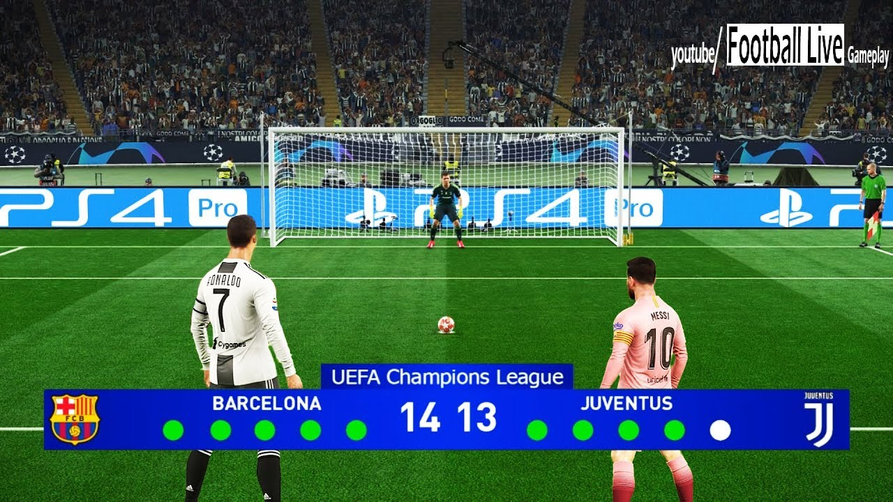 pes 2019 barcelona vs juventus final uefa champions league ucl penalty shootout youtube pes 2019 barcelona vs juventus final uefa champions league ucl penalty shootout