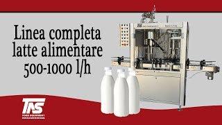 Linea Completa Latte Alimentare 500-1000 lt/h