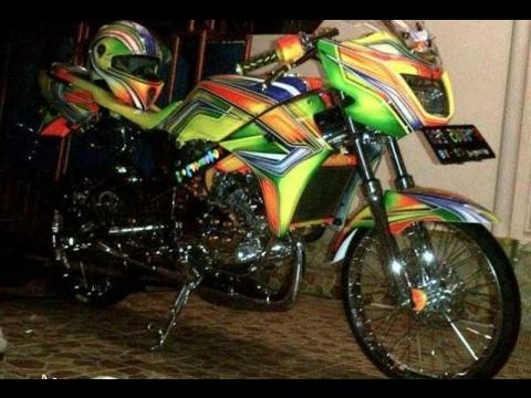 Video Modifikasi Motor Kawasaki Ninja R Modif Airbrush Keren Terbaru Part 2