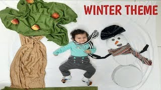 baby photography ideas | winter theme | baby photography at home | baby photoshoot themes | snowman