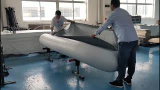 Making first sample of Mars inflatable boat for mass production.