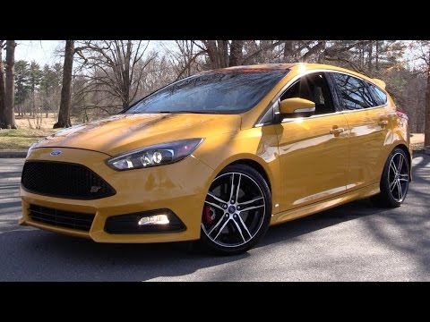 2015 2016 Ford Focus ST w Ford Performance Upgrades Start Up, Road Test In Depth Review