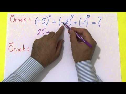 TEOG ÜSLÜ SAYILAR 1 Şenol Hoca Matematik