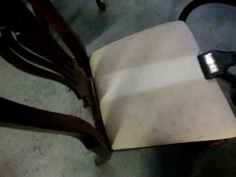 How To Professionally Clean An Upholstered Dining Room Chair   YouTube
