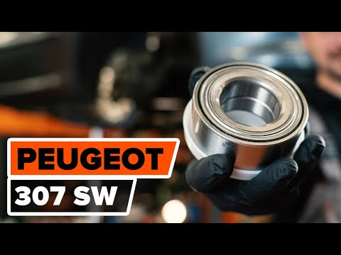 How to changefront wheel bearing/ front hub bearing onPEUGEOT 307 [TUTORIAL AUTODOC]