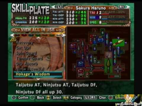 Naruto: Uzumaki Chronicles 2 - Level and Items