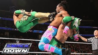 Lucha Dragons Vs Kofi Kingston Xavier Woods Of The New Day SmackDown Dec 17 2015