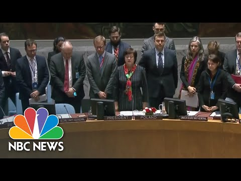 UN Security Council Honors Those Who Died In Gaza | NBC News