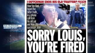 Manchester United malhonnête avec Louis van Gaal et José Mourinho