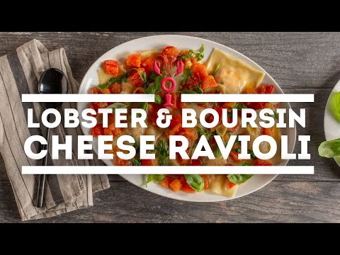 How To Make Lobster & Boursin Cheese Ravioli | Maine Lobster Now Signature Recipe