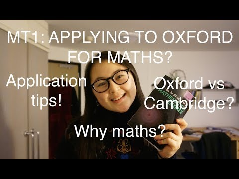 HT2: Applying to Oxford for Maths?