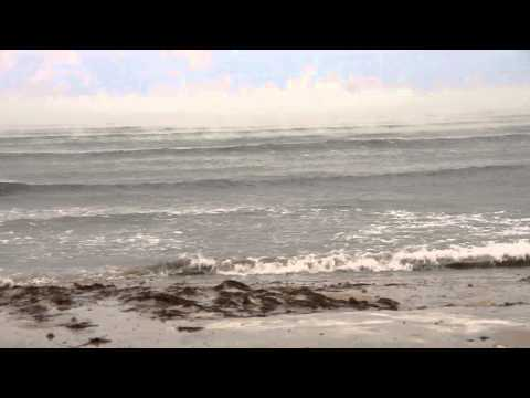 Анапа, центральный пляж 30 января 2014, шторм и холод