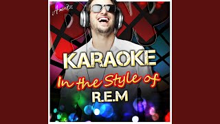 The Sidewinder Sleeps Tonite (In the Style of R.E.M) (Karaoke Version)