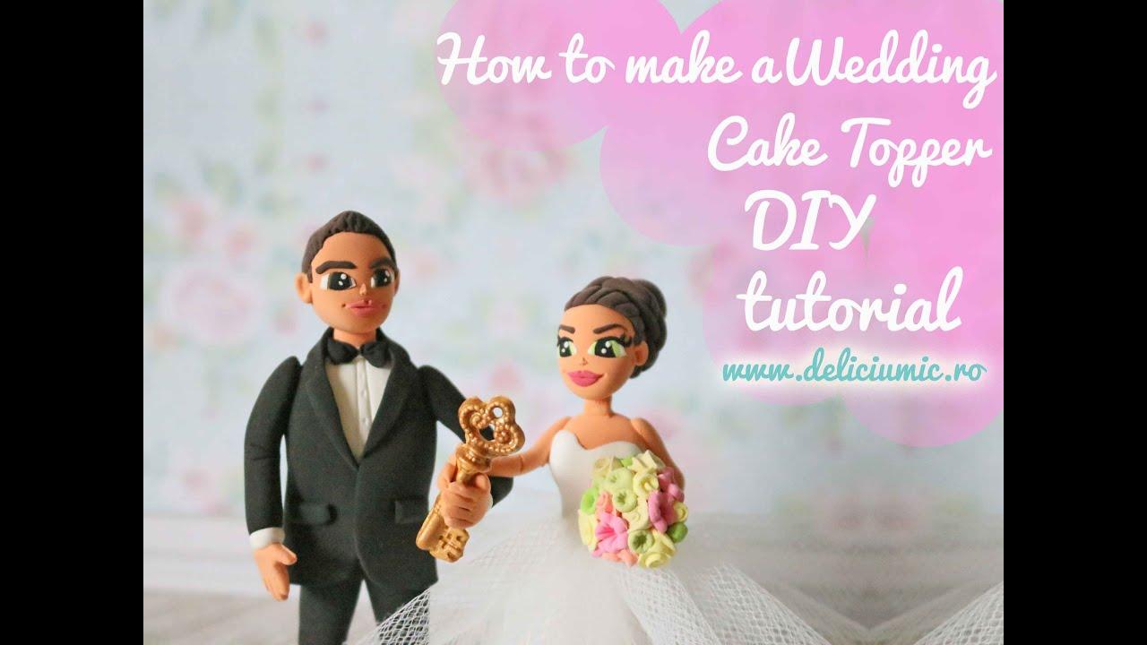 Cute Delight - DIY wedding cake topper Tutorial - handmade from ...