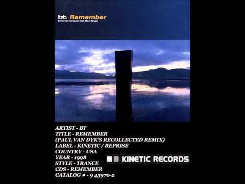 (((IEMN))) BT - Remember (Paul van Dyk's Recollected Remix) 1998 - Trance