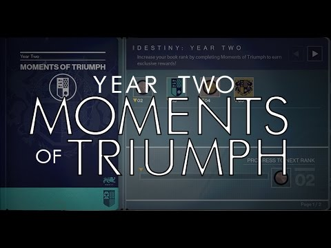 destiny - year 2 moments of triumph rewards are available! details