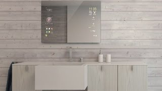 Android Bathroom Smart Mirror by Mues-tec Owatis InnovativTV