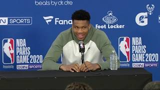 The Atmosphere Was Amazing. Giannis Antetokounmpo and Eric Bledsoe NBA Paris Press Conference