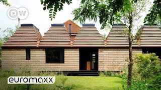 First House Entirely Built With Cork | Sustainable Lego System Architecture | Corkhouse UK