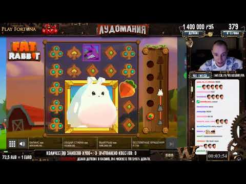 Casino VitussBritva Кролик может по Maxbet! Fat Rabbit Slot BIG WIN