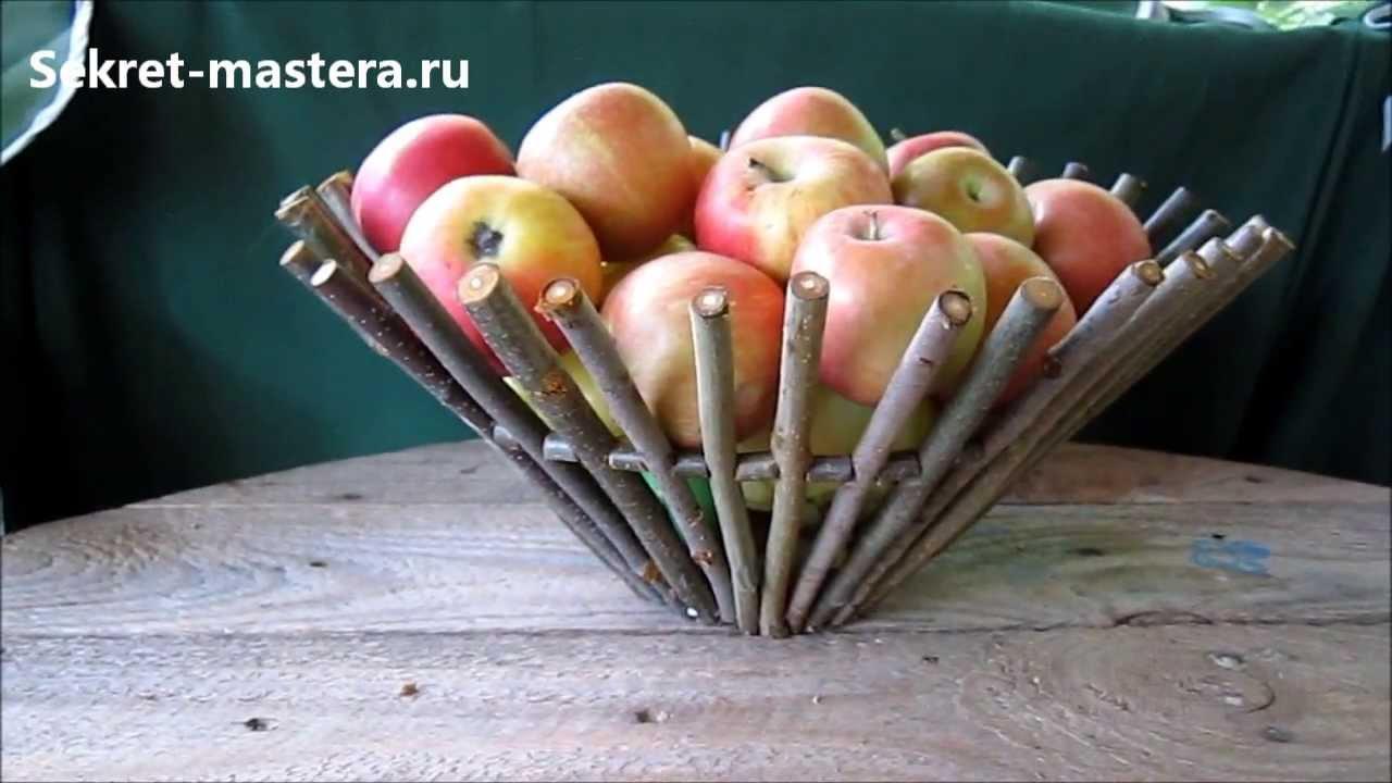 Идеи поделок из веточек и прутьев своими руками