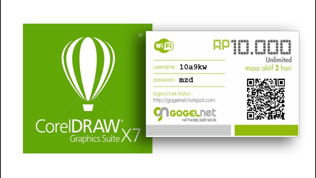 Design voucher hotspot mikrotik using CorelDraw & HTML/CSS