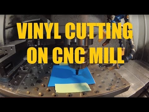 Vinyl decal cutting on CNC Mill with Roland drag knife
