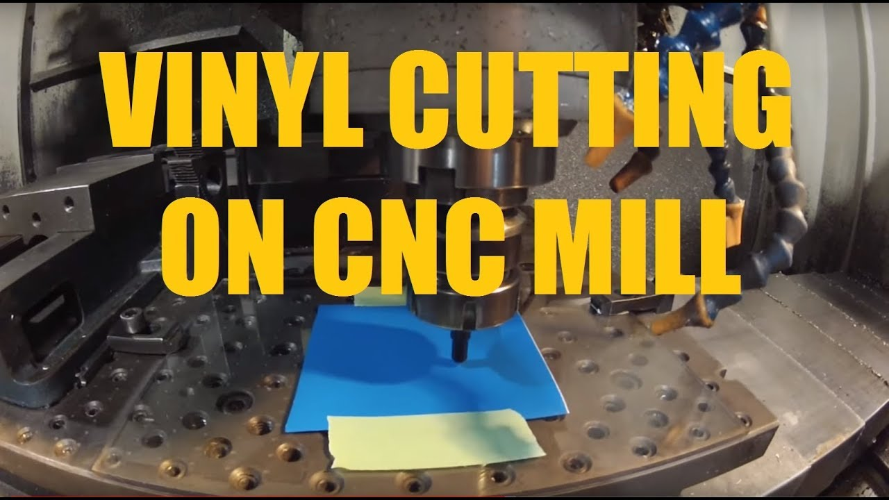Vinyl Decal Cutting On Cnc Mill With Roland Drag Knife Youtube