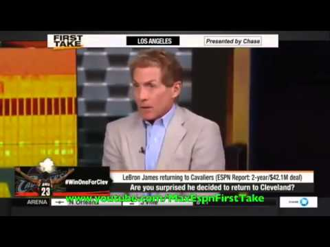Espn First Take   Lebron James Going Home