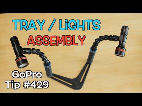 srp-dive-tray-/-24mm-torch-mounts-/-arms-/-lights-assembly---gopro-tip-#429-|-micbergsma
