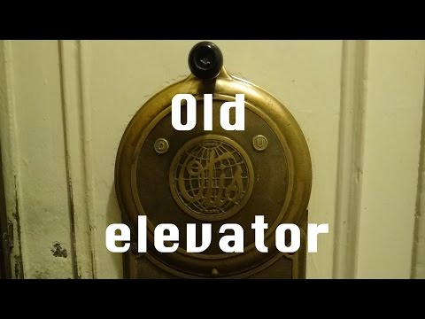 Antique Manually Controlled Otis Elevator @ The Flatiron Building Asheville NC