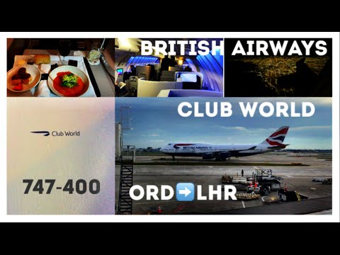 British Airways Business Class Club World, 747 Upper Deck -