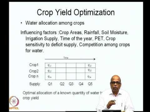 Crop yield optimization