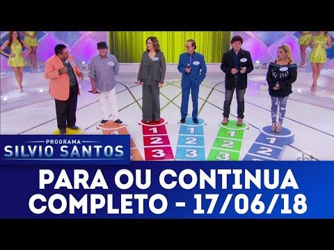 Para ou Continua | Programa Silvio Santos (17/06/18)
