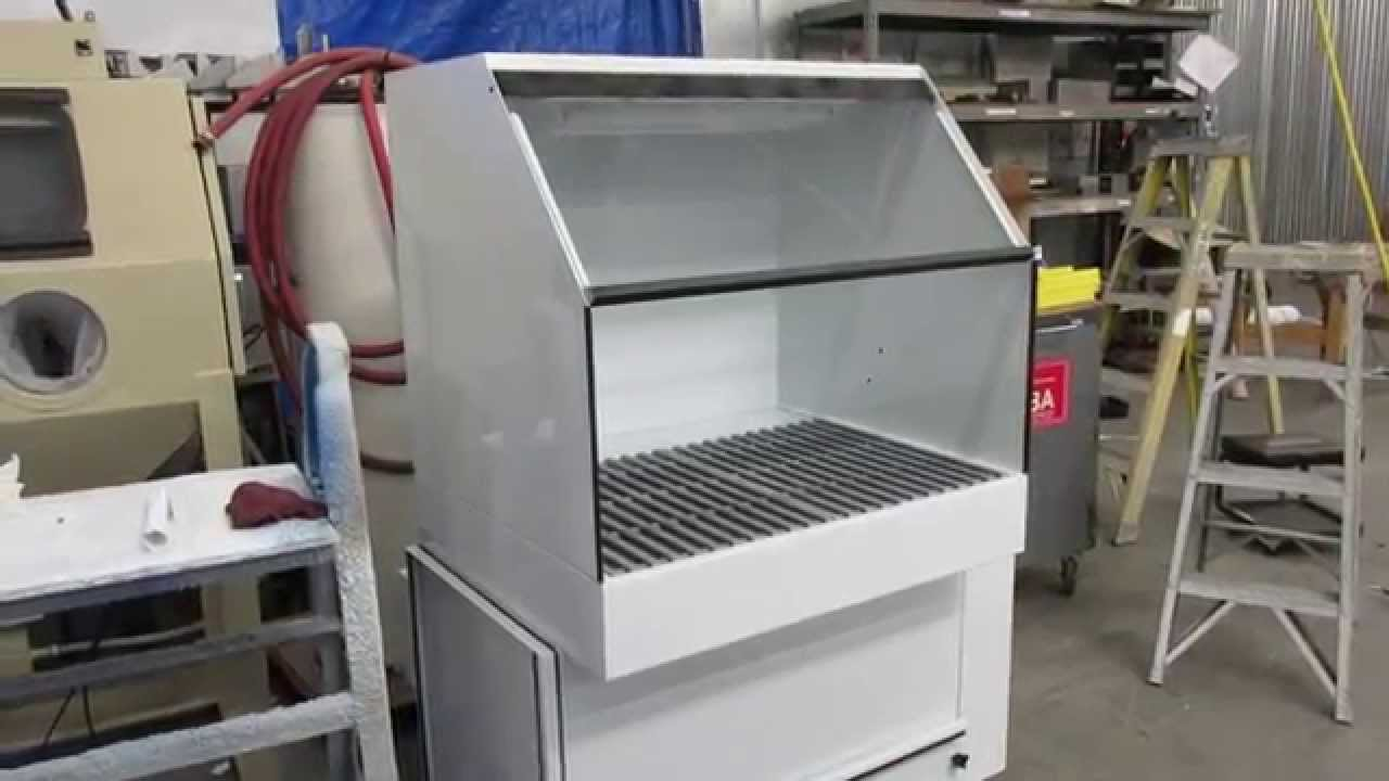 Enclosed Top Single Filter Downdraft Table Or Pollution